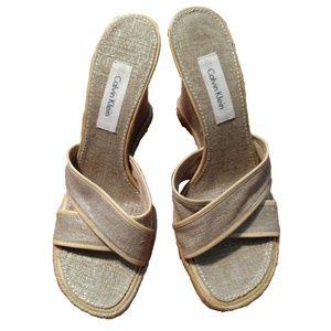 Calvin Klein Espadrille Wedge Sandals